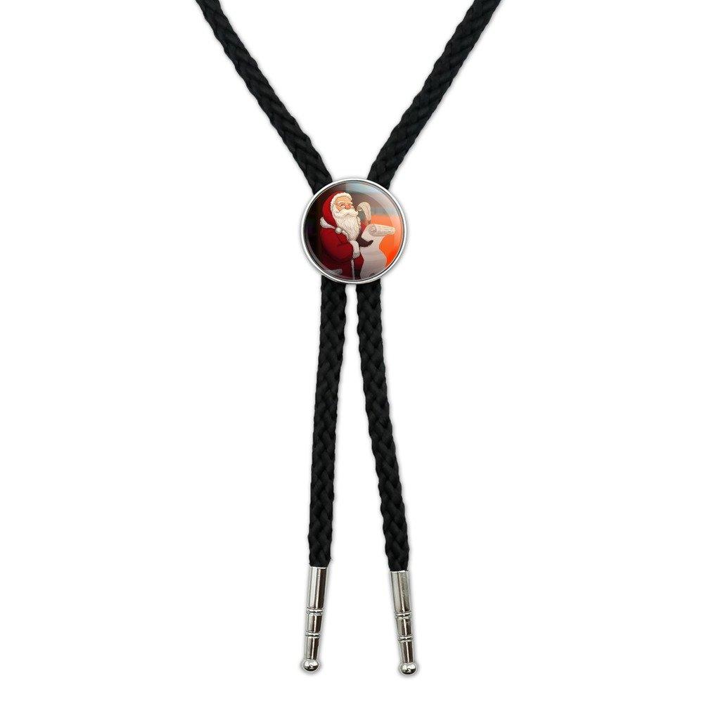 Santa Claus Christmas List Western Southwest Cowboy Necktie Bow Bolo Tie GRAPHICS & MORE