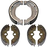 Caltric FRONT REAR BRAKE SHOES Fits HONDA TRX250 TRX-250 RECON 250 1997 1998 1999 2000 2001 NEW