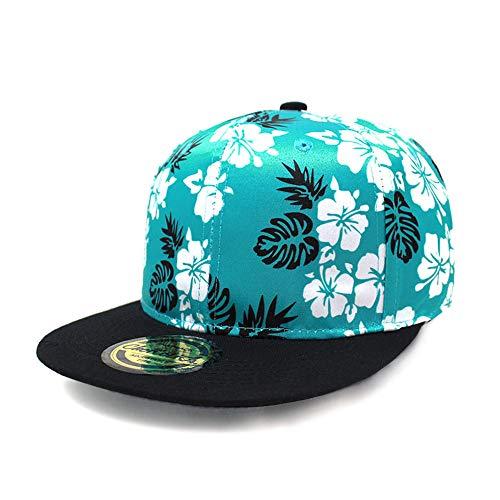 (ChoKoLids Flat Visor Snapback Hat Blank Cap Baseball Cap - 14 Colors (PS304 Turqoise) )