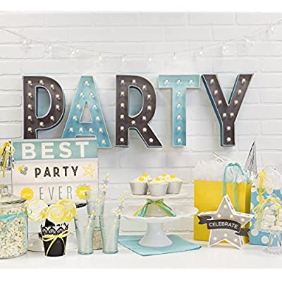 American Crafts 369080 Heidi Swapp Marquee Love 8-inch Marquee Kit by | Letter A | Includes DIY Marquee Letter, Light Strand, 15 Clear Lightbulbs, and tracing Template: Arts, Crafts & Sewing