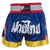 Revgear Deluxe Muay Thai Shorts, Blue, X-Large