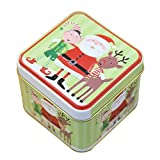 Kicode Partner 1 Pcs Square Christmas Iron Box With Lids Biscuit Candy Case Wedding Supplies