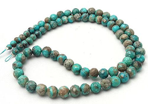 ality Turquoise Faceted Round & Balls Beads,Turquoise Beads,3 mm to 5 mm 15