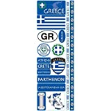"Reminisce Passports Die-Cut Stickers 4.25 by 12"" Sheet-Greece"
