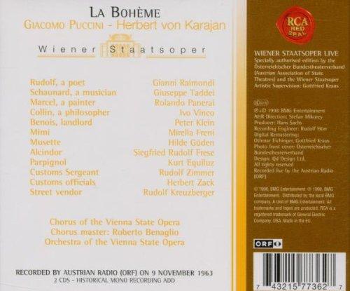 Wiener Staatsoper Live - Puccini: La Boheme / von Karajan by RCA Victor Europe