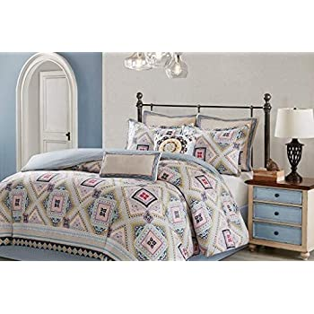 Amazoncom Echo Design Ibiza Comforter Set King Multi Home Kitchen