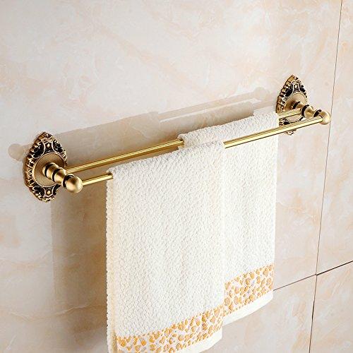 CZOOR Antique Handtuch Rack alle handtuchhalter kupfer Retro Handtuch Bar Two-Bar Handtuch Rack European Badezimmer Hardware Anhänger Set