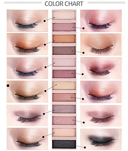 2 Pack 12 Colors Makeup Naked Eyeshadow Palette Natural Nude Matte Shimmer Glitter Pigment Eye Shadow Pallete Set…