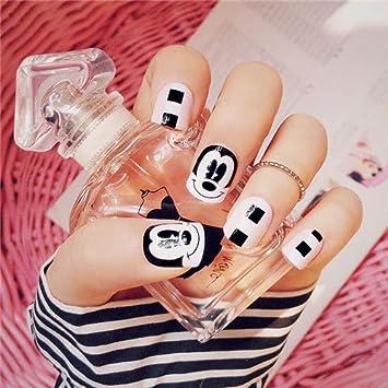 Amazon.com : 24Pcs Pink Bears Fake Nails Cute Kawaii Short False ...