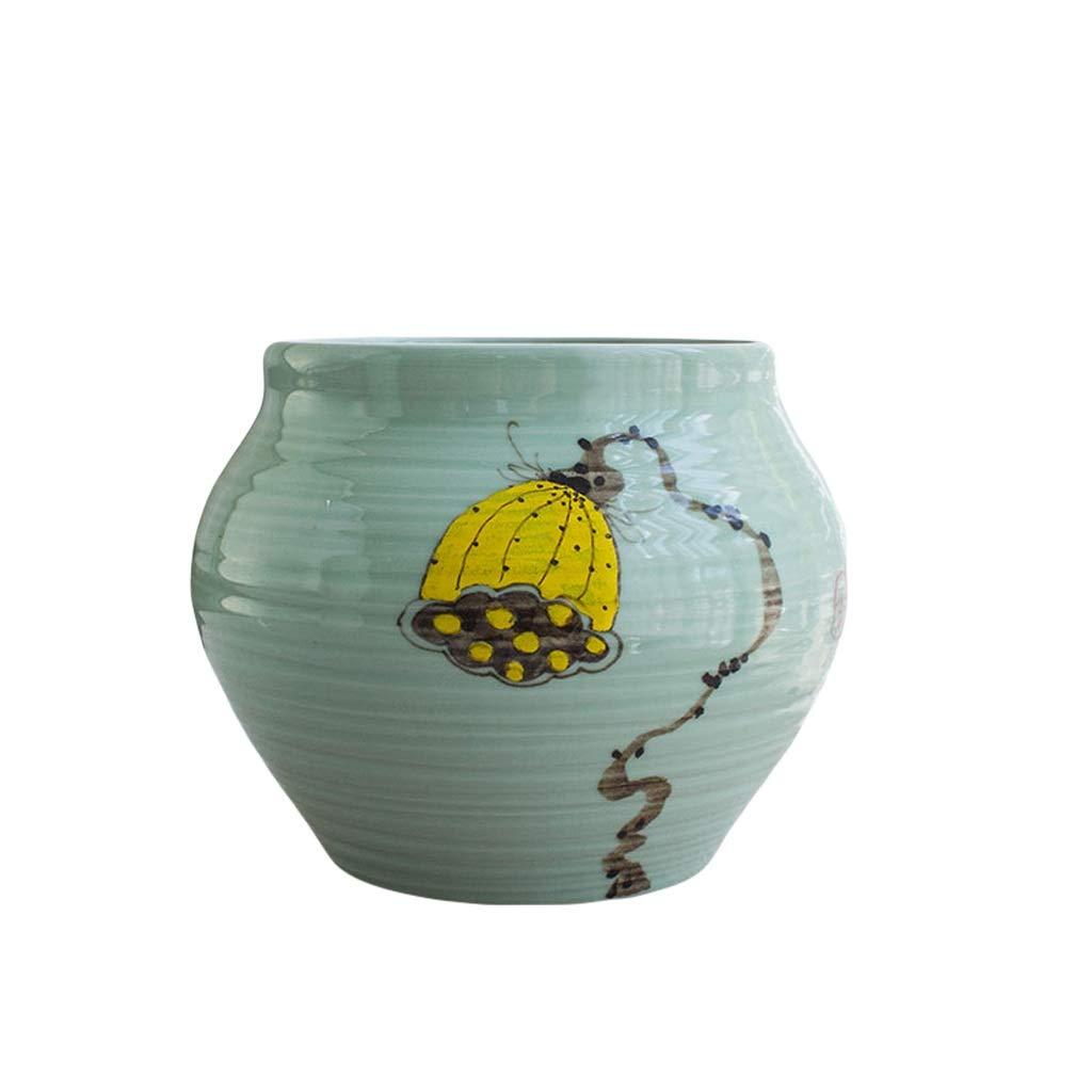 花瓶セラミック花瓶装飾リビングルームアメリカの国フラワープラグ美しいツーピーススーツドライフラワーフラワーアレンジメント LQX (Size : S) B07SHF8HX7  Small