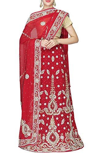 Exclusive Designer Wedding Ethnic Indian Wear Lehenga Red RUqW0Hw