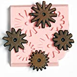 Western Spur Rowel Steampunk Mold Easy To Use Flexible Silicone Food Safe Fondant, Chocolate, Candy, Resin, Polymer Clay Mold.