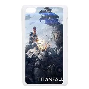 iPod Touch 4 Case White Titanfall Game Poster SLI_654931