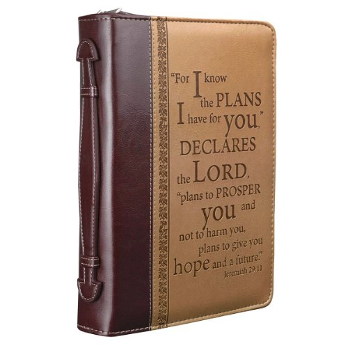 - I Know the Plans Two-tone Bible / Book Cover - Jeremiah 29:11 (Large)