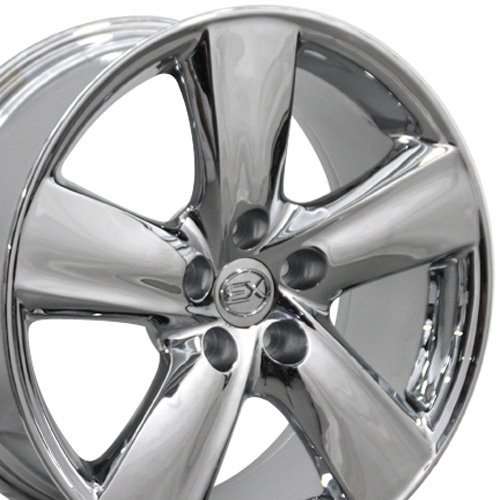 18x8 Wheel Fits Lexus - LS460 Style Chrome Rim, Hollander 74196 (Lexus Alloy Wheel Ls430)