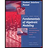 Fundamentals of Algebraic Modeling : An Introduction to Mathematical Modeling with Algebra and Statistics, Timmons, Daniel L. and Johnson, Catherine W., 0534404537
