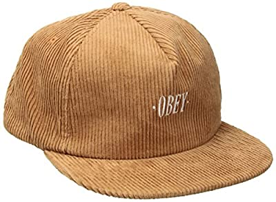Obey Men's Posted Snapback Low Unstructured 5 Panel Hat by OBEY Apparel