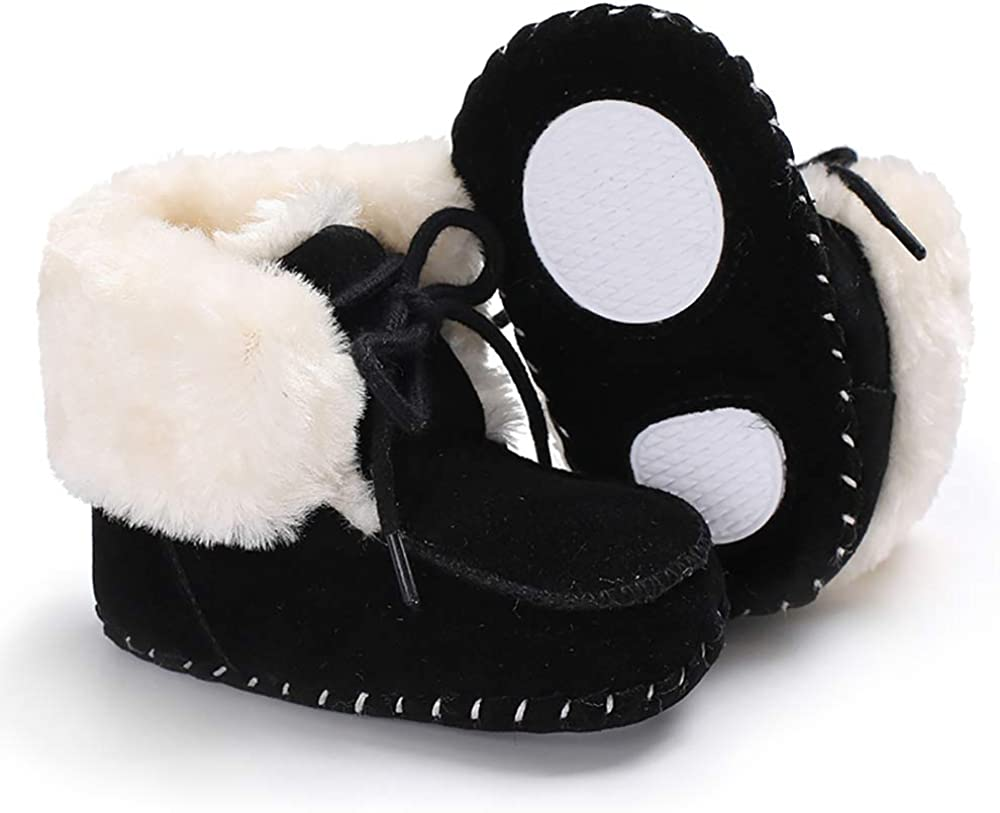 Ollily Baby Boots Infant Winter Newborn Boys Girls Snow Crib Shoes Slip On Booties