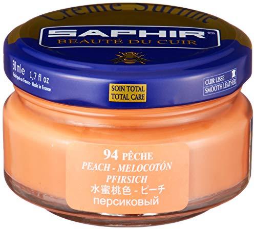 - Saphir Shoe Cream, Beaute du Cuir Creme Surfine, 50ml Jar (Peach)