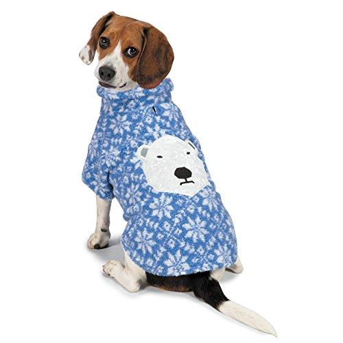 Berber Dog Coat - Zack & Zoey Elements Polar Bear Berber Jacket for Dogs, Medium