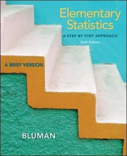 Elementary Statistics: A Step by Step Approach-A Brief Version, 6th Edition (With Data CD)