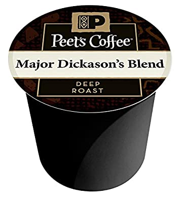 Peet's Coffee K-Cup Portion Coffee for Keurig Brewers - Dark Roast Major Dickason's Blend