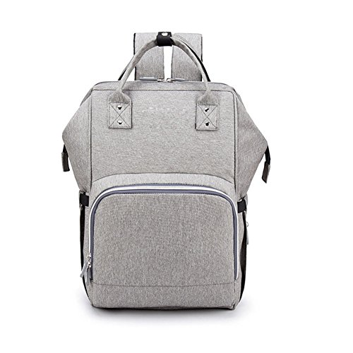 DCRYWRX Multi-Function Baby Diaper Bag Backpack Large Capacity Baby Boys And Girls Diaper Bag Waterproof Multi-Function Can Be Charging,E