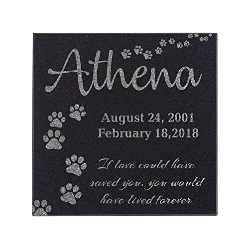 Head Personalized Dog - Memorial Pet Headstone - Loyal Companion, Dog and Cat Personalized Custom Granite Grave Marker D-4