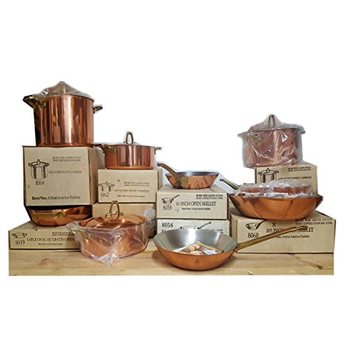 Vintage 1976 Paul Revere Ware Limited Edition Gourmet Copper Cookware Set of 10 (Covered Buffet Casserole)