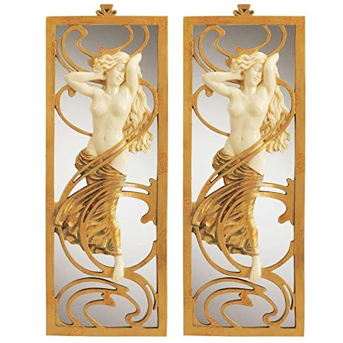 Design Toscano Parisian Art Nouveau Wall Mirror (Set of 2)