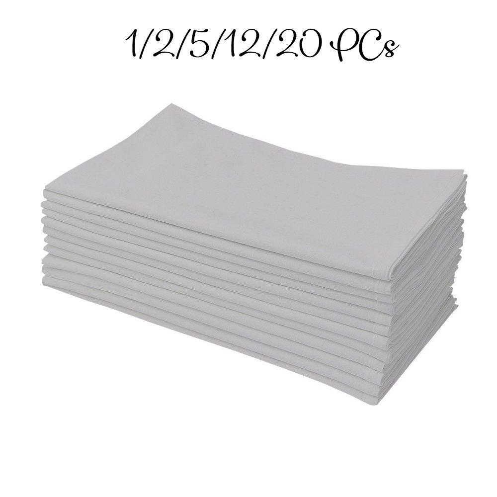 1 QTY Men's Handkercheifs 100% Cotton Light grey solid by American Club