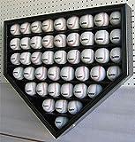 46 Baseball Display Case Wall Cabinet Holder Shadow Box, UV protection