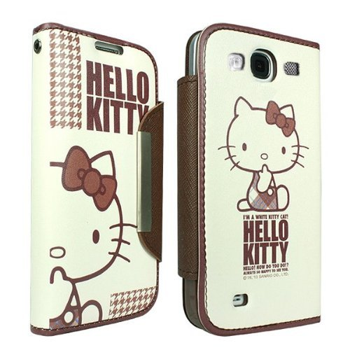 Hello Kitty Diary Case for Samsung Galaxy S3 - Retail Packaging - Brown