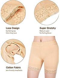 3 piezas Shorts de encaje Ropa interior Pantalones cortos de yoga Stretch Leggings de seguridad Pantalones cortos para damaes Niñas