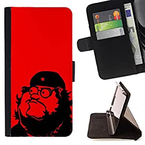 DEVIL CASE - FOR Sony Xperia m55w Z3 Compact Mini - Che Guevara Parody Art Communism Red Star - Style PU Leather Case Wallet Flip Stand Flap Closure Cover