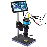 2.0mp Hd 2 In1 Industry Digital Microscope Camera 8x-100x Zoom C-mount Lens with Table Stand 7'' Inch LCD Monitor