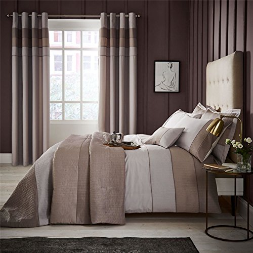 RIBBED BEIGE TAUPE GREY PEACH SKIN COTTON BLEND USA QUEEN SIZE (COMFORTER COVER 230 X 220 - UK KING SIZE) (PLAIN CREAM FITTED SHEET - 152 X 200CM + 25 - UK KING SIZE) PLAIN CREAM HOUSEWIFE PILLOWCASES 6 PIECE (Skin Comforters)