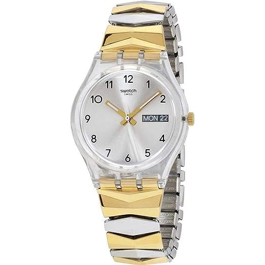 Swatch Reloj Digital para Mujer de Cuarzo con Correa en Acero Inoxidable GE707A: Amazon.es: Relojes