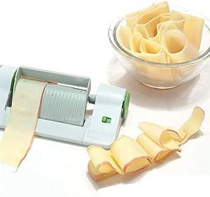 Tuscom Vegetable SheetCutter, Spiralizer Vegetable Slicer, Multi-Function Peeler Sheet Fruit Vegetables Peeler Veggie Sheet Slicer for Kitchen Use