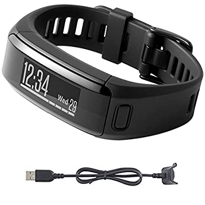 Garmin vivosmart HR Activity Tracker Regular Fit Black Charging Cable Bundle includes vivosmart HR and Charging Cable