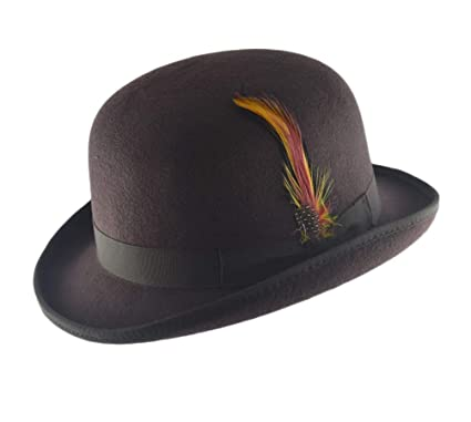 3dd780d512d8a Image Unavailable. Image not available for. Color  Hard Felt Bowler Hat