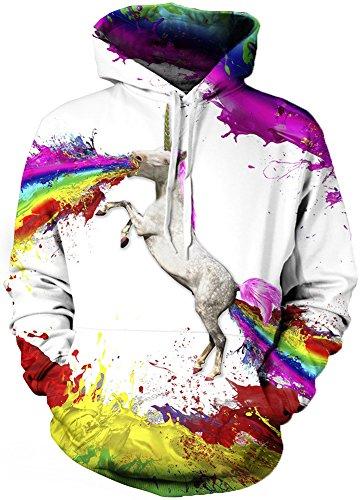 Pandolah Men's Colorful Patterns Print Athletic Hoodies Fashion Sweatshirts Sweaters
