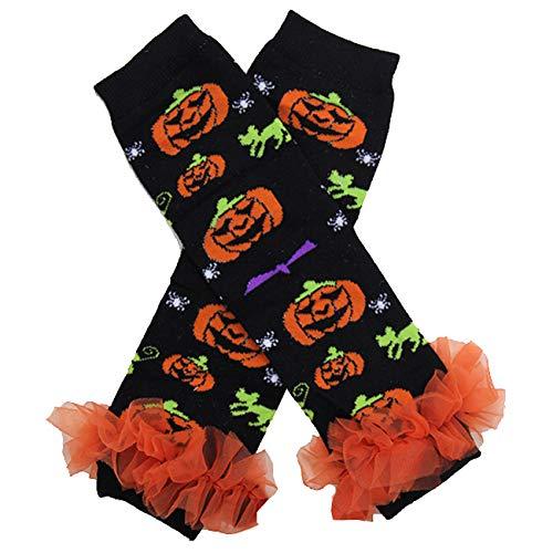 Kirei Sui Baby Pumpkin Ruffle Leg Warmers]()