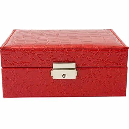 5d315101fe87 Cerrada la caja de Joyeria Aretes Pulseras Bisuteria chica novia anillo  doble caja de almacenamiento