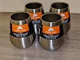 Set of 4 Ozark Trail 14oz Stainless Steel Wine Glasses