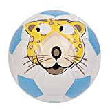 GLORY Cartoon Toddler Soccer Ball, Soft TPU Cover, Blue, Size 4