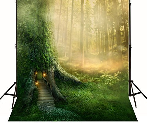 Generic Green Jungle Forest Backdrop Fairy Tale Tree Root Hole Children Scenic Photography Backgrounds Cartoon Kids Studio Wallpaper Print 160