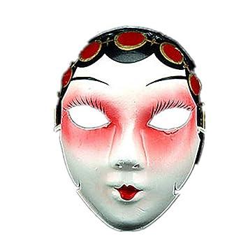 WHFDRHWSJMJ Mascara Halloween Terror de LED Cosplay Máscara de Halloween Máscara de Dibujos Animados Piezas de