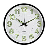 Best Home-X Alarm Clocks - WINOMO 12inches Luminous Wall Clock Silent Movement Round Review