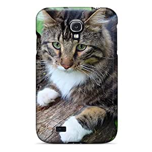 Hot Tpu Cover Case For Galaxy/ S4 Case Cover Skin - Cat In The Woods